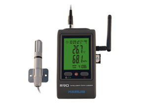 R90EX-G GSM GPRS temperature humidity data logger with external probe