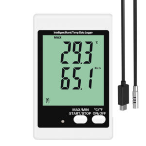 DWL-20E alarm temperature humidity logger with external probe