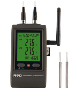 R90DR-G 2-channel pt100 gsm temperature data logger