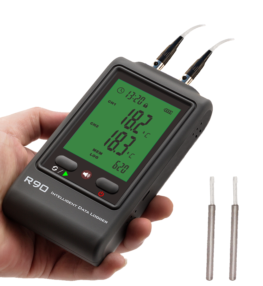 R90DR-U PT100 sensor temperature logger -100 to 250degC