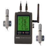 R90DX-G 2-channel temperature humidity data logger gsm